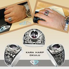 Kara Harp Okulu Yüzükleri Elmas İş Garantisiyle Üretildi. #yuzuk #gumus #erkek #ring #silver #soldier #asker #ringformen #elmasis #love #ask http://bit.ly/1y8b1Cp