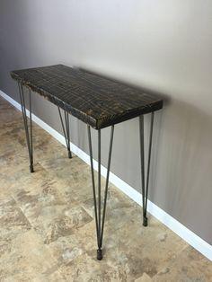 Mesa madera mesa de comedor mediados siglo horquilla por barnxo
