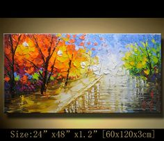 Abstract Wall PaintingPalette Knife Abstract by xiangwuchen