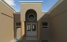 A 4 Bedrooms Tuscan styled house plans you can call home. This 4 Bedrooms Tuscan styled house design is perfect for your medium size family. 4 Bedroom House Plans, Garage House Plans, Small House Plans, Single Storey House Plans, Double Storey House, Tuscan House Plans, Mediterranean House Plans, House Plans South Africa, Flat Roof House