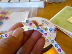 How to tie a bow with one-sided ribbon. Tutorial by Olivia Moore How to tie a bow with one-sided ribbon. Tutorial by Olivia Moore Card Making Tips, Card Making Techniques, Making Ideas, Bow Making, Making Hair Bows, Ribbon Crafts, Paper Crafts, Stampin Up, Card Tutorials