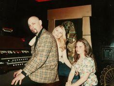Anton Szandor Lavey with wife diane hagarty and daughter zeena lavey