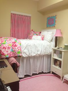 Lilly pulitzer dorm room at ridgecrest south at the university of Alabama