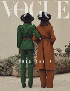 """""""Twin Souls"""" by Thomas Goldblum for Vogue PortugalYou can find Vogue magazine and more on our website.""""Twin Souls"""" by Thomas Goldblum for Vogue Portugal Vogue Vintage, Vintage Vogue Covers, Moda Vintage, Fashion Vintage, Vogue Editorial, Editorial Fashion, Men Editorial, Magazine Editorial, Peter Lindbergh"""