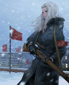 Soviet Union female Sniper is all f**king lewd! Anime Military, Military Girl, Fan Art Anime, Anime Art Girl, Anime Girls, Female Character Design, Character Art, Guerra Anime, Anime Krieger