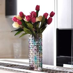 Home decor small clear glass vases wholesaleHome decor small