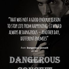 """""""that was not a good enough reason to stop life from happening. It would always be dangerous – another day, different enemies"""" - from Dangerous Conceit  (on Wattpad) https://www.wattpad.com/203070005?utm_source=ios&utm_medium=pinterest&utm_content=share_quote&wp_page=quote&wp_uname=asalvadorr&wp_originator=2Jvze%2Fa%2FKKgFotkL86JO6Pk4YBTNttfkeX8%2BrlOpg8M4bbV%2FSK95Wxg2AWfAUfSQedRNTMSJJP85HGyi2RhSLxusL%2B1onDVPNUX%2Bg%2B4psv7hen1miHGJnZeO4sTyb%2F4o #quote #wattpad"""
