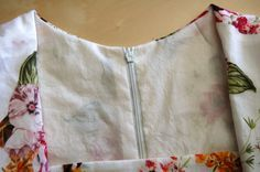 How to sew the lining into a dress.  You can use this method in most lined dress patterns to avoid slipstitching the lining to the zipper. This is faster, more durable, and gives you a really nice corner at the top of the zipper.