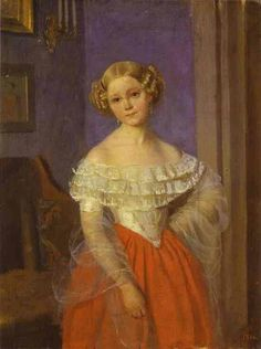 Portrait d'Olga Ivanovna Domonkala(1851)