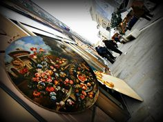 #ancona #marche #italy #corso garibaldi #antiquariato #antiques #mercatino #paintings