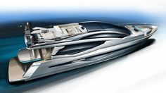 Luxury yacht Galeon 820 Skydeck project