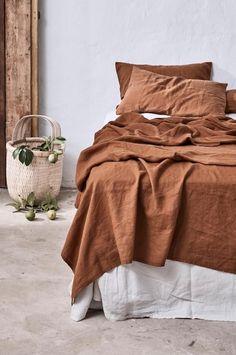 terracotta bed linens