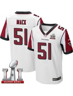 Atlanta Falcons Nike Men's #51 Alex Mack Elite White Super Bowl LI 51