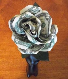 a money rose is so much better than just giving someone cash !