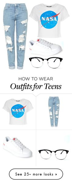 """""""Vintage look."""" by yasitsmine on Polyvore featuring Topshop, Fila and vintage"""