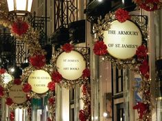 Christmas decorations in the Picadilly Arcade, London-- beautiful!