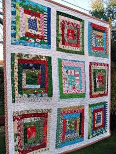 Scrappy Christmas Quilt - swap blocks from all over the world!