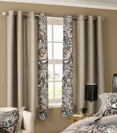 Curtain Ideas Short Window Curtains Beige Bedroom Windows Modern