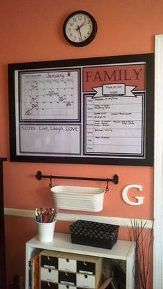 My Command Center, complete with a DIY dry-erase calendar in a frame (inspired by delightfulorder.blogspot.com) and other command center pins.