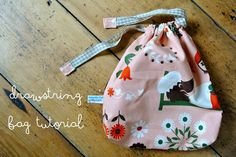 Albert and the Lion: Drawstring Bag Tutorial