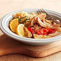 Slow Cooker Garlic Chicken with Artichokes - make sure all ingredients are GF.