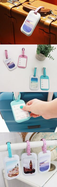 Travel in fun. Travel in style. Travel with the cutesy Plane Window Luggage Tag!