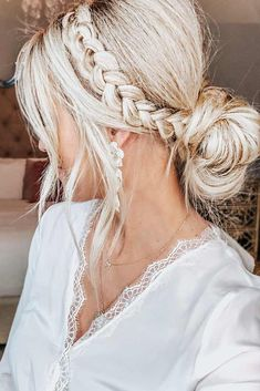Side Dutch Braid Styles Bun #updo #braids #blondehair ❤️ Dutch braids are among the most sophisticated long hairstyles. Now let's discover amazing looks with Dutch braids we have picked for your inspiration.  ❤️ See more: http://lovehairstyles.com/dutch-braid/ #lovehairstyles #hair #hairstyles #haircuts