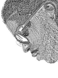 Art of Apex High School: Typography Portraits Typography Portrait, Typography Art, Text Portrait, Portrait Art, Zentangle, Apex High School, Poesia Visual, 8th Grade Art, Drawing Projects