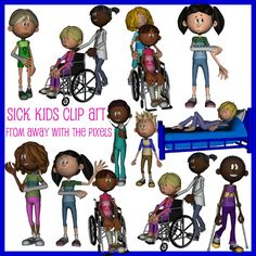 Here's a set of clip art depicting kids with injuries. There are 10 high quality images in this set - IWB / Smartboard OK!