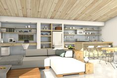 Modern Style House Plan - 3 Beds 2 Baths 1356 Sq/Ft Plan #497-57 Interior - Other - Houseplans.com