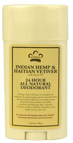 Nubian Heritage 24 Hour All Natural Deodorant Indian Hemp & Haitian Vetiver