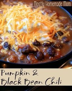 Pumpkin & Black Bean Chili - the pumpkin turns typical chili incredibly rich and creamy, can't have it any other way now!