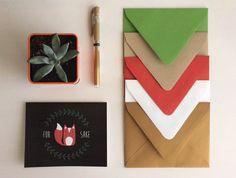 Fox Sake Greeting Card Set by PrimroseThreads on Etsy