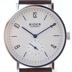 New GT&FQ M002 Automatic Rider Arabic Silver White Dial Bauhaus Style Watch #bauhauswatch #bauhaus #automaticwatch  #gtfqwatch #rodinawatch #riderwatch #seagullwatch #movement #st1701 #gtandfqwatch