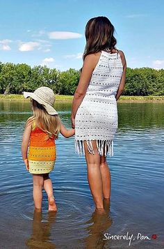Ravelry: Mary Beach Dress pattern by Sincerely Pam Crochet Cover Up, Crochet For Kids, Crochet Tops, Bathing Suit Cover Up, Swimsuit Cover, Girls Cover Up, Crochet Bathing Suits, Beach Dresses, Dress Patterns