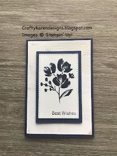 Bone Folder, Small Flowers, Navy And White, Stampin Up, Card Stock, Art Gallery, Bloom, Crafty, Floral