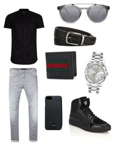 """Day Date for HIM"" by ashethamermaid on Polyvore featuring Scotch & Soda, Topman, Versace, Gucci, Rolex, Dolce&Gabbana and Ermenegildo Zegna"