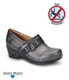 Nurse Mates Dakota Full Grain Leather Clog Style # DAKOTA  #uniformadvantage #uascrubs #shoes #nursingshoes #slipresistant