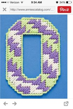Sewing Plastic Canvas Letters, Plastic Canvas Stitches, Plastic Canvas Crafts, Fun Crafts, Diy And Crafts, Stitch Patterns, Sewing Patterns, Alphabet Signs, Bead Kits