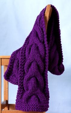 Free Knitting Pattern: Jumbo Cable Scarf