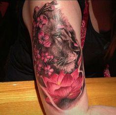 lioness tattoo | Nice lioness