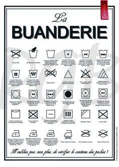 – La Buanderie poster – Sensible information for laundry labels Very good poster to hold above the washer, or within the laundry room, storage room … It would permit us to know what all these symbols imply! Product info: Poster (body not included) Information Poster, Home Organisation, Konmari, Finance Tips, Poster Wall, Digital Image, Home Deco, Good To Know, Laundry Room