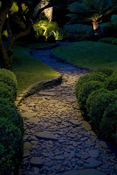 sunken rock path - Garden & Landscape designed by Laara Copley - Smith.