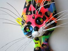Calico cat art wall sculpture by artistJP on Etsy, $20.00