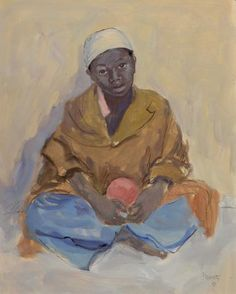 Peinture Algérie - Charles BROUTY (1897-1984) - Jeune arabe