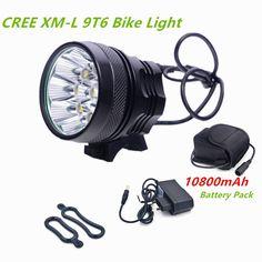 Đèn xe đạp bycicle ánh sáng 9 LED 12000lm Sạc Pin 18650 đi xe đạp xe đạp ánh sáng led luces bicicletas bike đèn