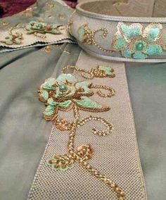 Sfifa Morrocan Kaftan, Moroccan Dress, Hand Embroidery Designs, Beaded Embroidery, Corset Tutorial, Tambour Beading, Fashion Vocabulary, Wedding Belts, Evening Dresses For Weddings
