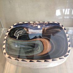 James Campbell Platter in the National Museum Cardiff  #ceramics #ceramicist #platter #paintedceramics #handmade #craftsman #glosguild