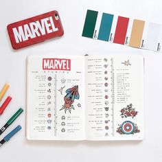 bujoknight — - ̗̀ may ̖́- Marvel Cinematic Universe. Bullet Journal 2019, Bullet Journal Tracker, Bullet Journal Notebook, Bullet Journal Inspo, Bullet Journal Spread, Bullet Journal Ideas Pages, Bullet Journal Layout, My Journal, Journal Inspiration