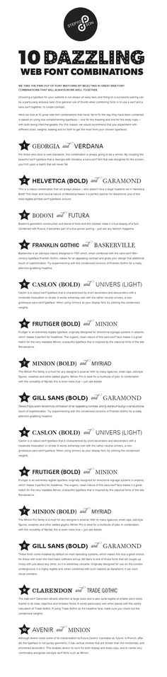 10 great web font combinations #fontcombinations #webfonts #font #combinations #typography